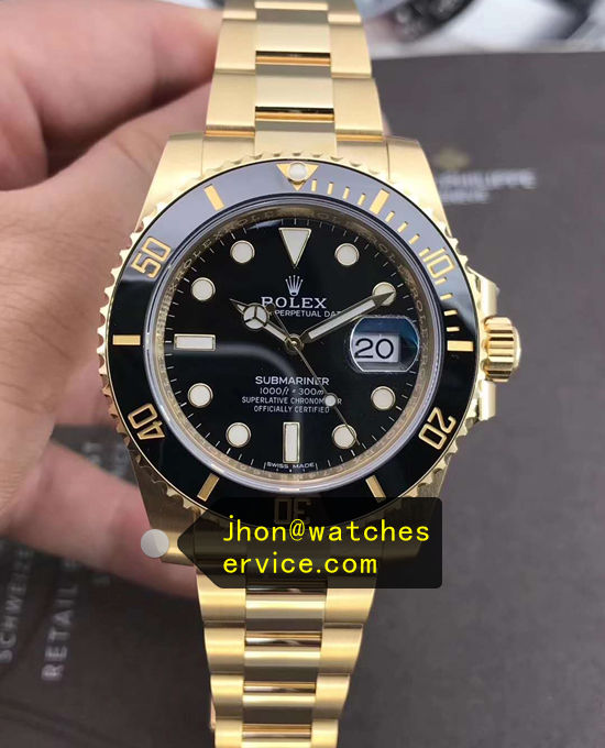 AR Factory Gold Submariner 116618LN Replica Watch