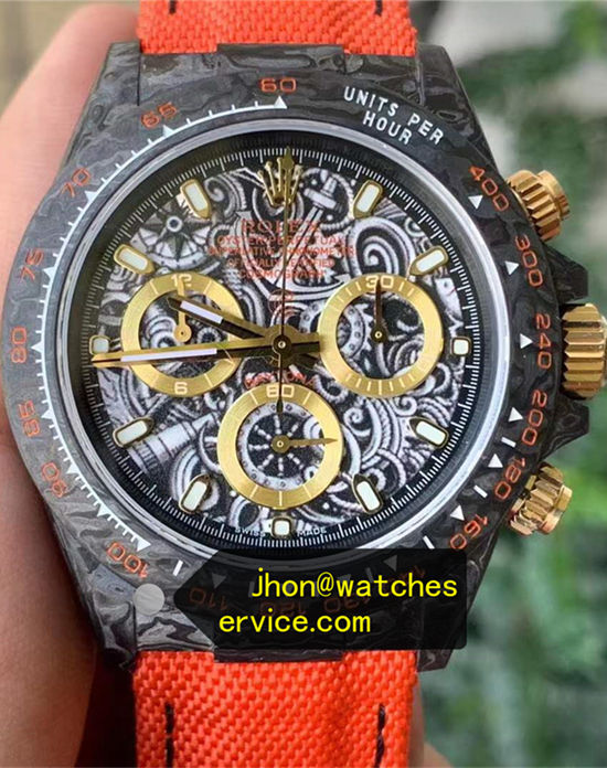 AR Golden Eye Modified Rolex Daytona Carbon Fiber replica watch