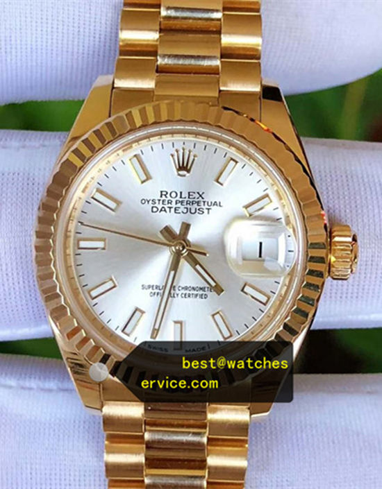 AR Lady Datejust 28MM 279178-63348 18k-Gold