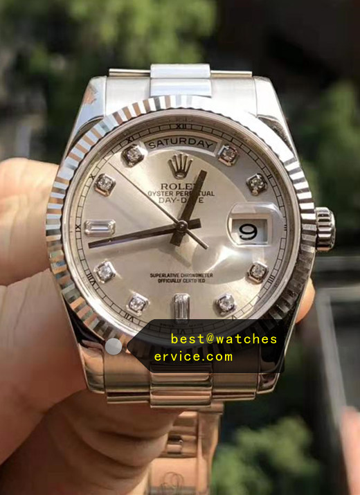 AR Rolex Day Date 118239A Silver White Gold