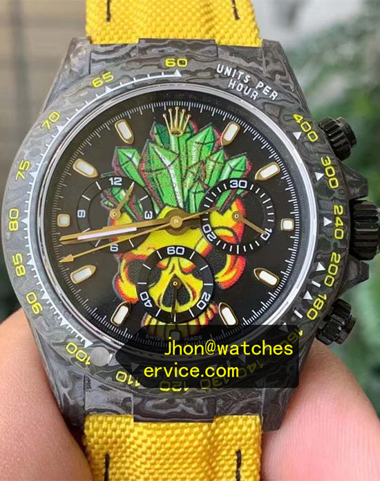 AR Rolex Daytona Carbon Fiber Yellow