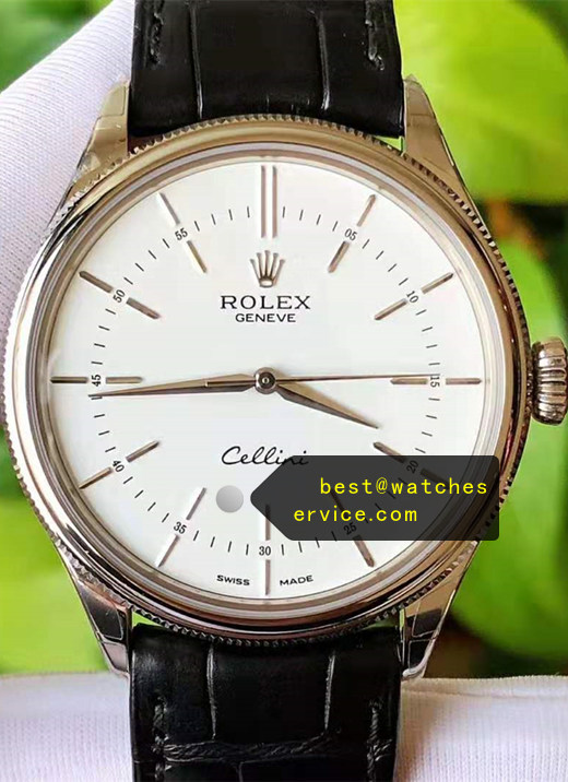 AR White Dial 18k-Rose-Gold Rolex Cellini m50505-0020