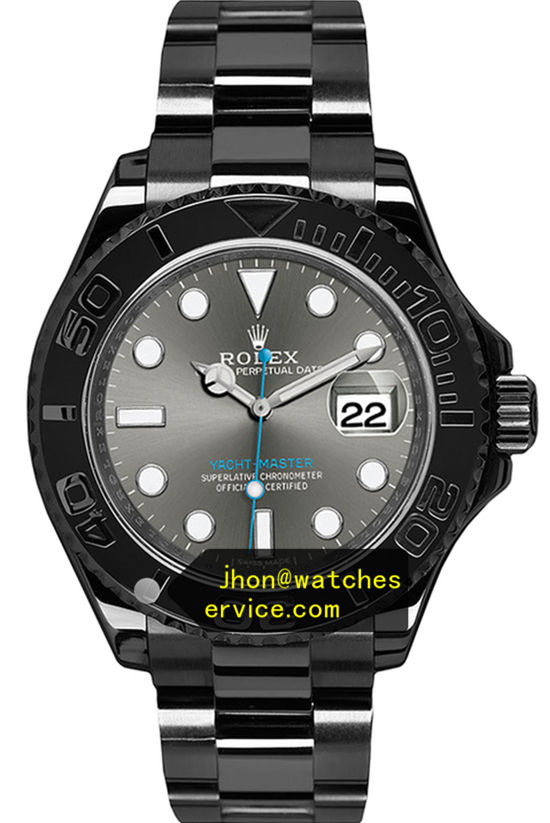 All Black PVD Rolex Yachtmaster m126622-0001