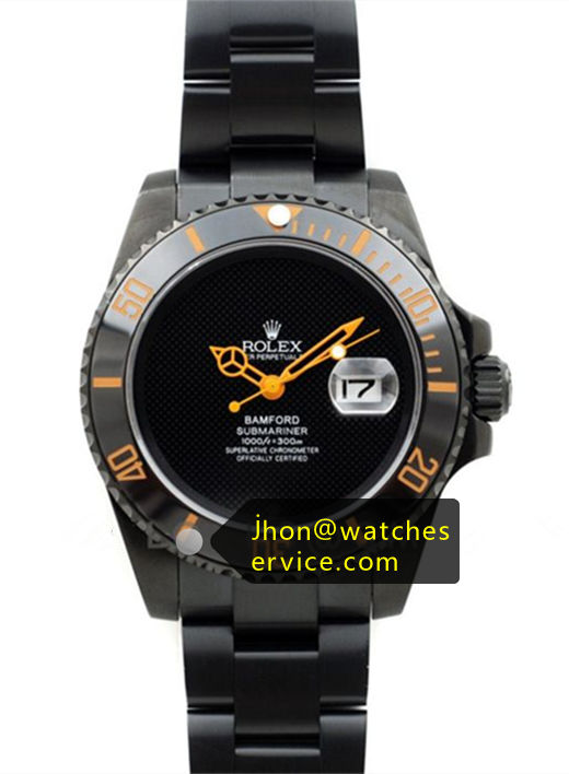 Bamford Submariner Orange Black PVD Coating
