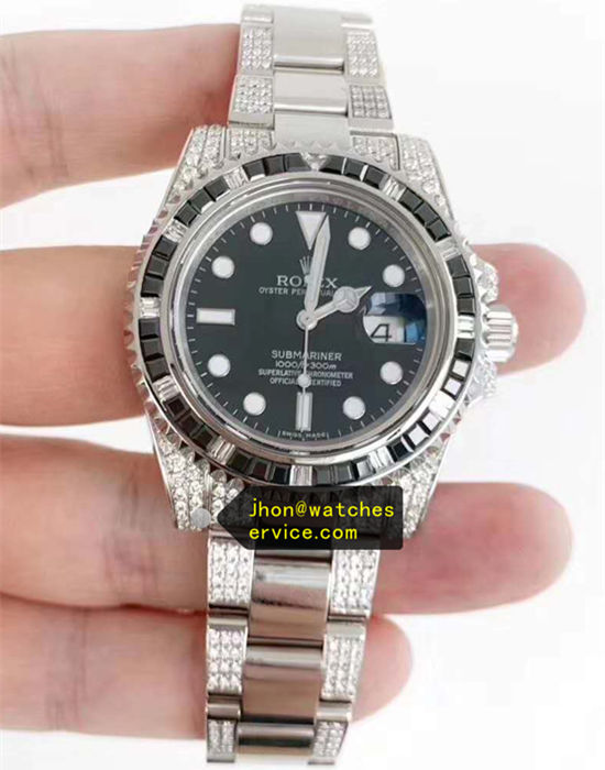 Black Mosang Diamonds AR Rolex Submariner 116610LN