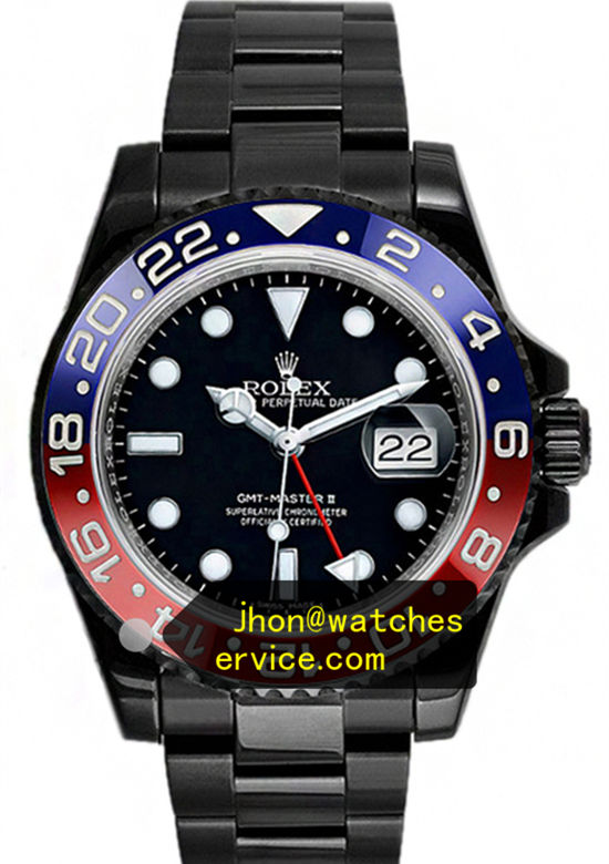Black PVD Blue With Red Bezel Rolex GMT Master 116719-BLRO