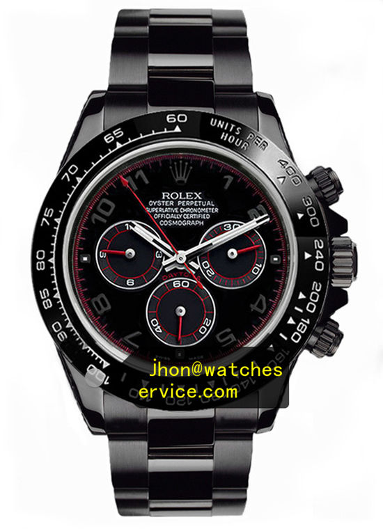 Black PVD Rolex Daytona Red Coil Special Edition