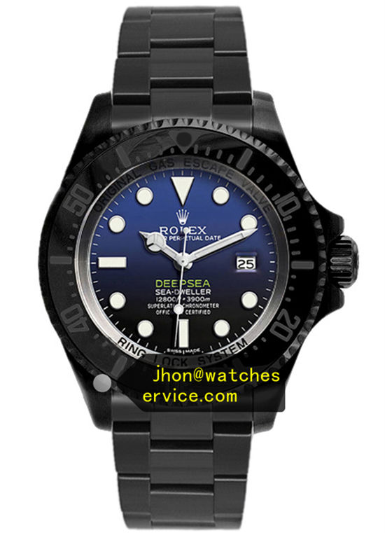 Black PVD Rolex Deepsea m126660 Gradient Glass