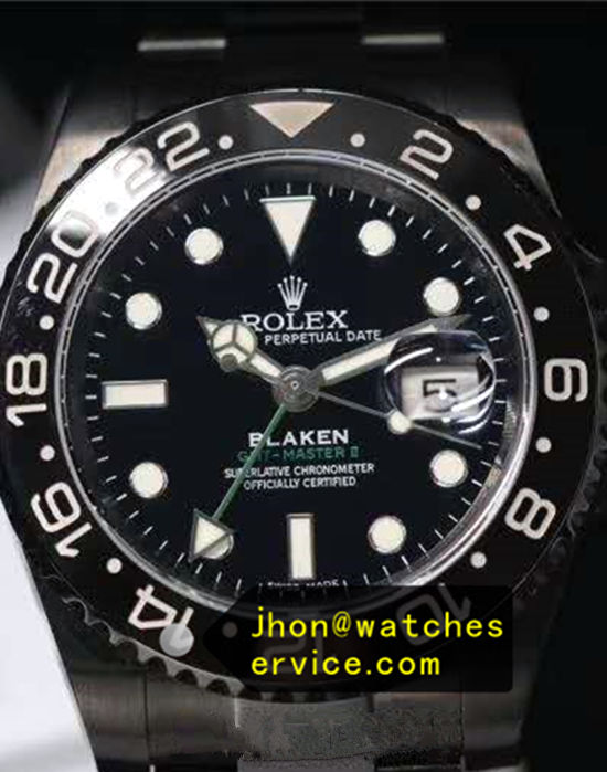 Black PVD Rolex GMT Master 116710LN Blaken Version