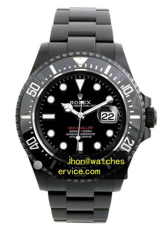 Black PVD Rolex Sea Dweller 126600 Red Letter 43MM