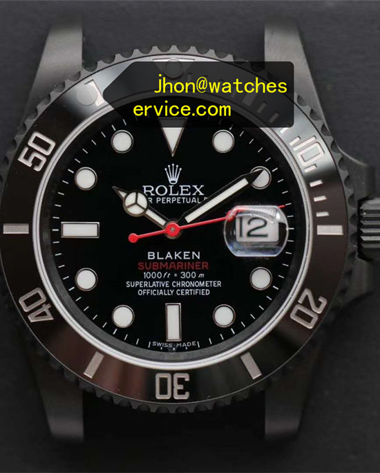 Black PVD Rolex Submariner 116610LN Blaken Version
