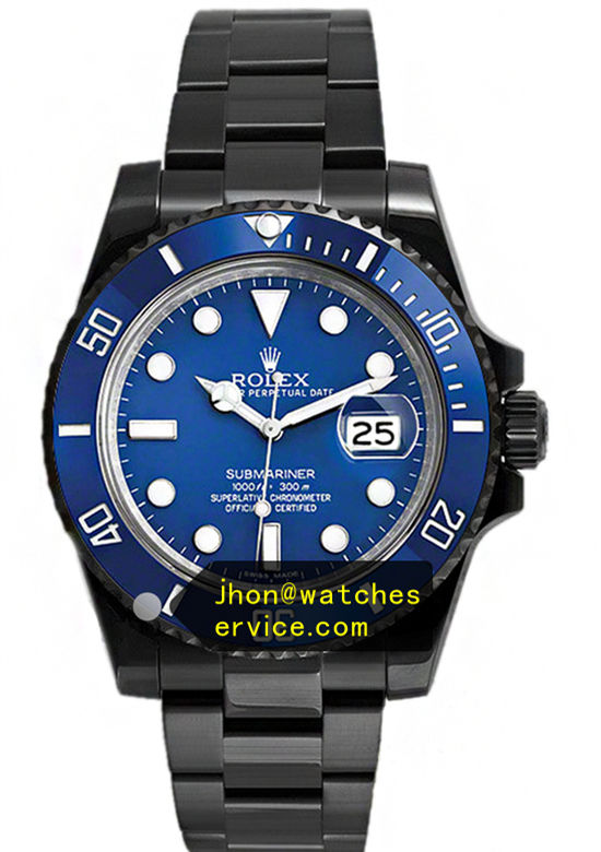 Black PVD Rolex Submariner Blue Face