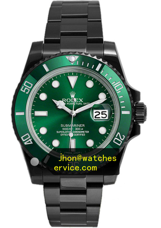 Black PVD Rolex Submariner Green Face
