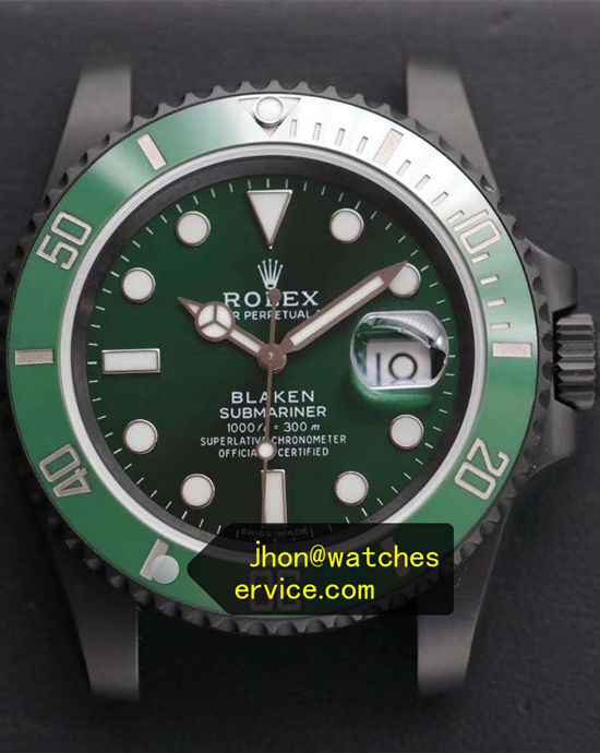 Black PVD Rolex Submariner Hulk Blaken Version