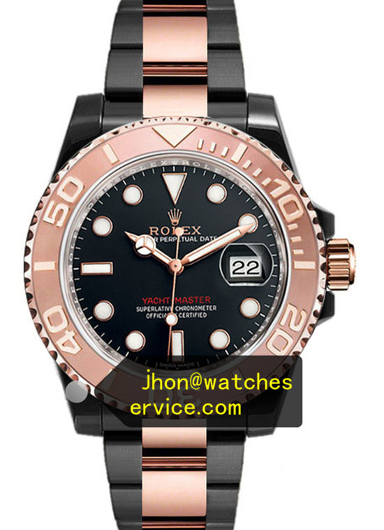 Black PVD Rolex Yachtmaster 116655 Rose Gold Coating