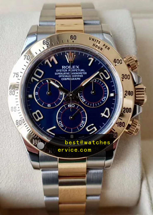 Blue Rolex Daytona 116503 904L With 18CT-Gold
