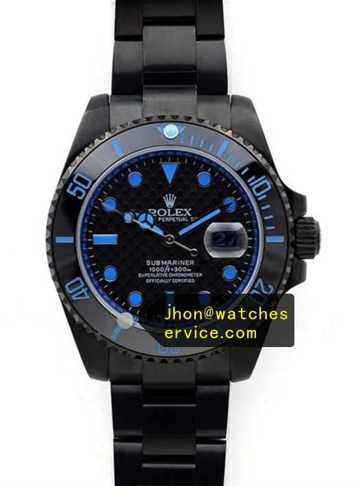 Blue Rolex Submariner Black Steel