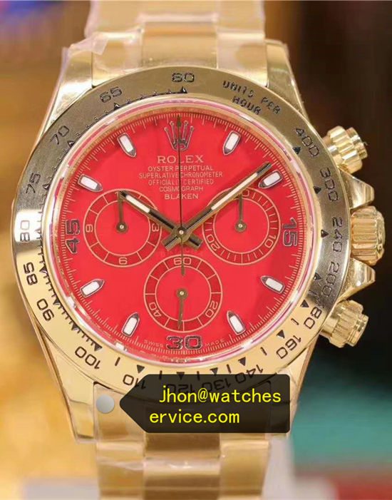 China Red Gold Rolex Daytona