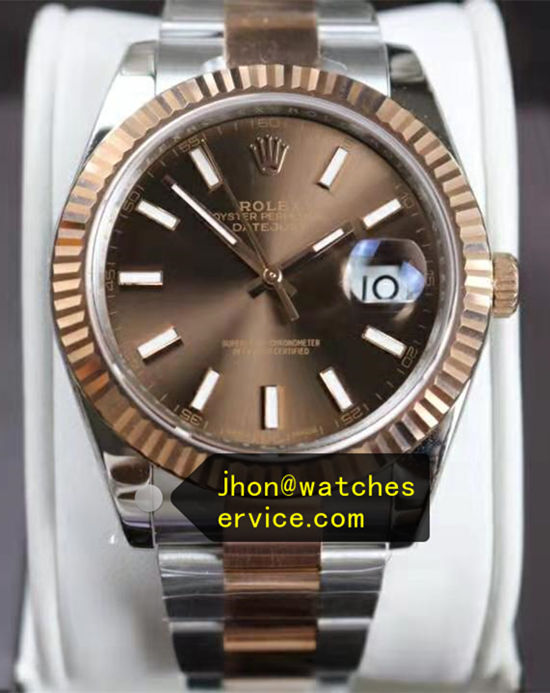 Chocolate 41MM Rolex Datejust m126331 Rose Gold