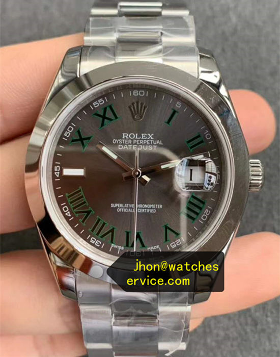 Dark Gray Rolex Datejust m126300-0013 Steel