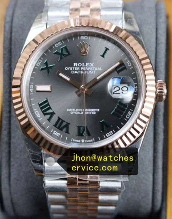 Dark Gray Rolex Datejust m126331-0016 Rose Gold