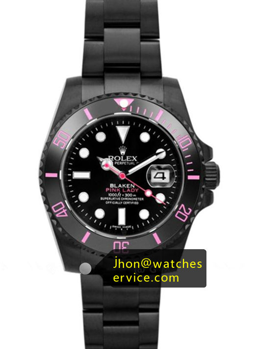 Pink Lady Blaken Submariner Black PVD Coating