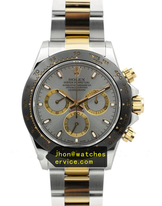 N Rolex Daytona Grey Dial Black Ceramic Bezel