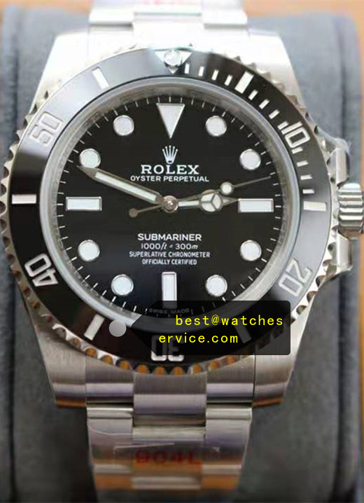 Rolex No Date Submariner Black 904L Steel