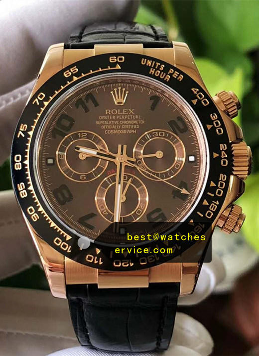AR Rose-Gold Rolex Daytona M116515ln-0015 Chocolate