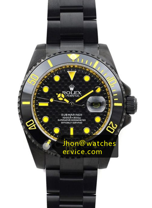 Yellow Rolex Submariner Black Steel
