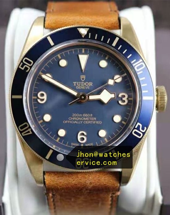 Blue 43MM Tudor Bronze Black-BAY M79250BM