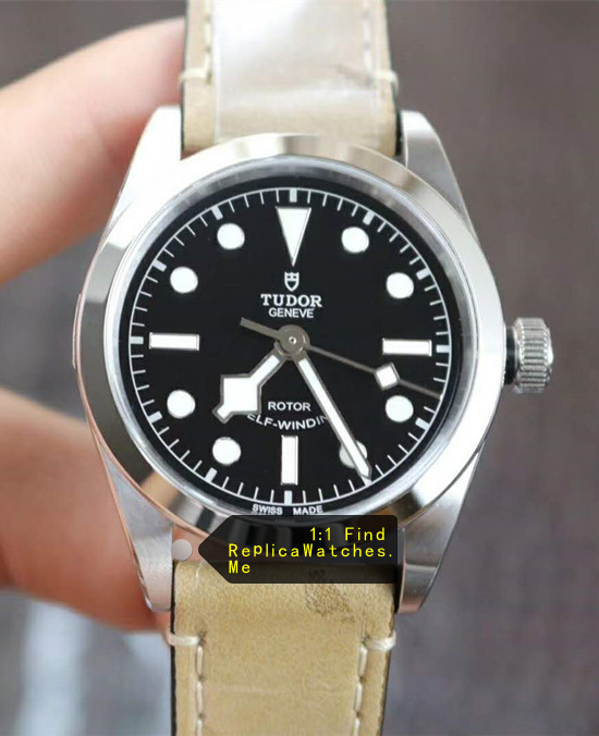 Tudor M79500 Black-BAY 36MM Beige Cowhide Strap