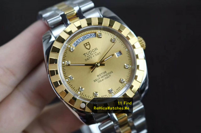 Replica Tudor Classic 41MM M23013-0018 18K-Gold face